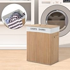 HOMCOM Bamboo Laundry Basket 52Lx32Wx63H cm