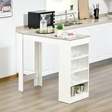 HOMCOM Bar Table Coffee Table Kitchen Dining Table