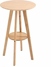 HOMCOM Bar Table Round Cocktail Bistro Table with