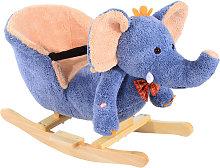 HOMCOM Children Kids Rocking Horse Toys Plush