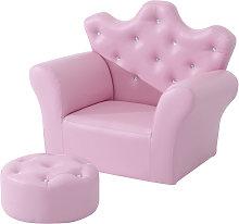 HOMCOM Children Kids Sofa Set Armchair Chair Seat