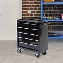 HOMCOM Cold Rolled Steel 5-Drawer Rolling Tool