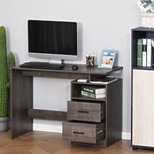 HOMCOM Compact Computer Desk with Shelf, Drawer