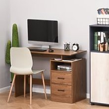 HOMCOM Compact Desk with Shelf, Drawer Writing