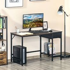 HOMCOM Computer Desk, Home Office Workstation for