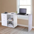 HOMCOM Computer Desk, L Shape-White