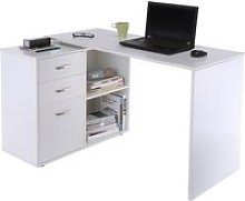 HOMCOM Computer Desk, L Shape-White