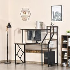 HOMCOM Computer Desk with Shelves Home Office
