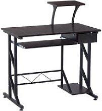 HOMCOM Computer Desk with Sliding Keyboard Tray