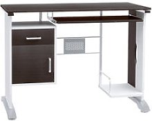 HOMCOM Computer Desk with Sliding Keyboard Tray