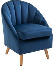 HOMCOM Decadent Single Lounge Chair in Velvet-Look