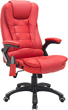 HOMCOM Deluxe Reclining Faux Leather Office