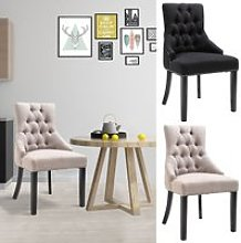 HOMCOM Dining Accent Chair Home Business Linen