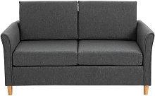 HOMCOM Double Seat Linen Sofa Loveseat Couch
