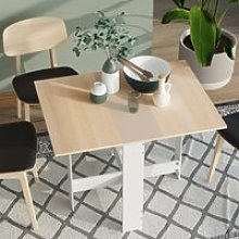 HOMCOM Drop Leaf Table Particle Board Wooden