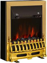 HOMCOM Electric Fireplace LED Light Complete Fire