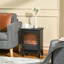 HOMCOM Electric Fireplace Stove, Free standing