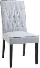 HOMCOM Elegant Tufted Dining Chair Wood Frame