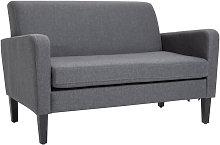 HOMCOM Fabric Two-Seater Sofa Settee Loveseat