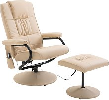 HOMCOM Faux Leather Massage Recliner Chair Easy