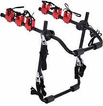 HOMCOM Foldable 3 Bike Carrier Rear Hitch Mount