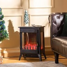 HOMCOM Free standing Electric Fireplace Stove,