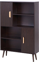 HOMCOM Freestanding Bookcase Shelving Unit Display