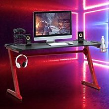 HOMCOM Gaming Desk Computer Writing Table with Cup