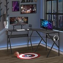 HOMCOM Gaming Desk L-Shaped Corner Computer Table