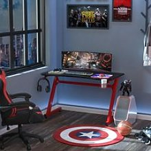 HOMCOM Gaming Desk Steel Frame w/ Cup Headphone