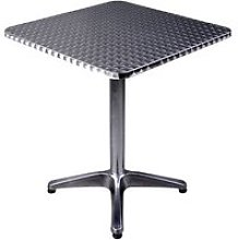 HOMCOM Height Adjustable Square Bar Table, 60x60 cm