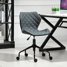 HOMCOM Home Office Swivel Computer Desk Chair With