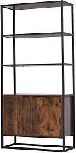 HOMCOM Industiral Style Display Storage Cabinet w/