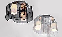 HomCom Kaya Ceiling Chandelier Light: Black