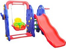 HOMCOM Kids Garden Playground W/ Swing Slide and