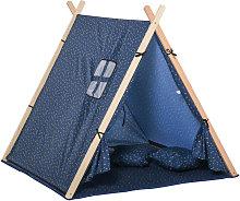 HOMCOM Kids Indoor Outdoor Teepee Play Tent