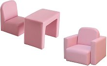 HOMCOM Kids Mini Sofa 3 In 1 Table Chair Set