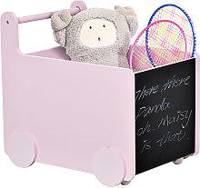 HOMCOM Kids Rolling Toys Storage Cart Trolley w/