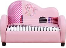 HOMCOM Kids Sofa Piano Shape Multi-Functional 2
