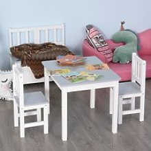 HOMCOM Kids Table and 2 Chairs Set 3 Pieces