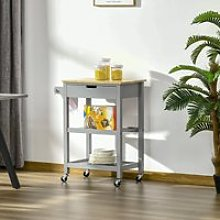 HOMCOM Kitchen Trolley Utility Cart on Wheels with