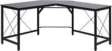 HOMCOM L-Shape Corner Gaming Work Desk Table Home