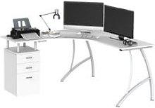 HOMCOM L-Shape Designer Computer Desk PC