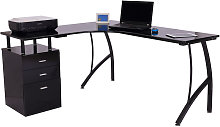 HOMCOM L-Shape Designer Computer Desk PC