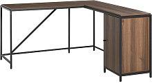 HOMCOM L-Shaped Computer Corner Desk w/ Cabinet