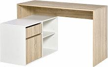 HOMCOM L-Shaped Corner Computer Desk Study Table
