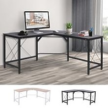 HOMCOM L-Shaped Corner Desk Gaming Table Computer