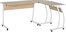 HOMCOM L Shaped Corner Desk Home Office Study