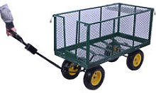 HOMCOM Large 4 Wheels Heavy Duty Garden Cart