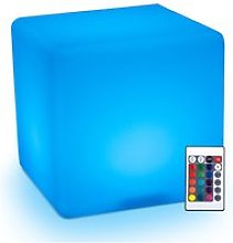 HOMCOM LED Cube Light IP54 Waterproof, With Remote
